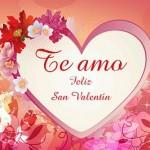 Te Amo. Feliz San Valentín.