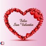 Feliz San Valentín con Corazón de Corazones.
