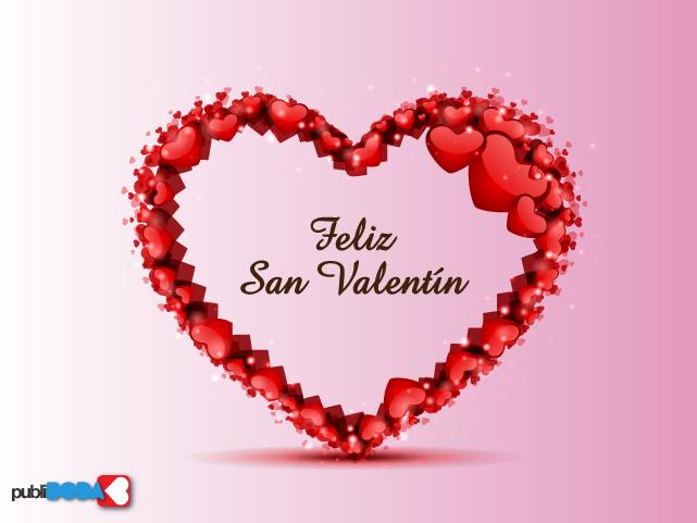 Feliz San Valentín Con Corazón De Corazones Tnrelaciones