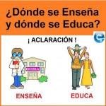 ¿Donde se Enseña y donde se Educa?