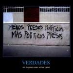 Menos presos políticos, más políticos presos