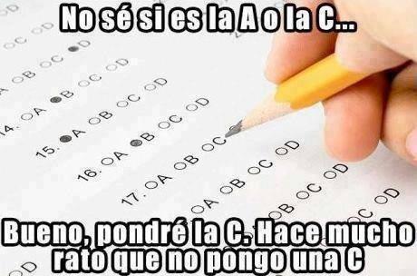No sé si es la A o la C... Bueno, pondré la C. Hace mucho rato que no pongo una C.