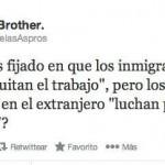 """¿Os habéis fijado en que los inmigrantes en España""""Quitan el trabajo"""", pero los españoles en el extranjero """"luchan por tener un futuro""""?"""