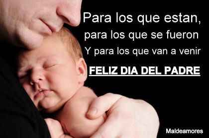 Feliz Día del Padre. Para los que están, para los que se fueron, y para los que van a venir.