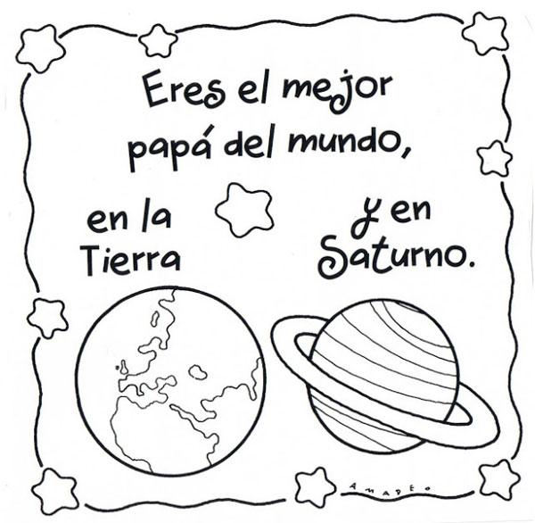 Eres el mejor papá del mundo. En la Tierra y en Saturno.