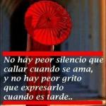 No hay peor silencio que callar cuando se ama