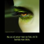 No es el amor que se fue, es la herida que deja.