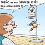 ...Y pretendes que me crea que tu sueño es ser Striper???...Baja ahora mismo !!!