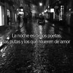 La noche es de los poetas...