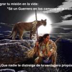 """Para lograr tu misión en la vida: """"Sé un guerrero en los campos de la mente"""" ¡Que nadie te distraiga de tu verdadero propósito!"""