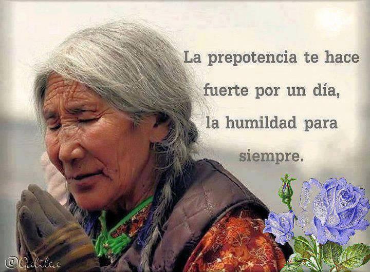 La prepotencia te hace fuerte por un día, la humildad para siempre.