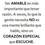 Ser Amable es más importante que tener razón