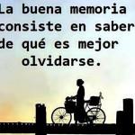 La buena memoria consiste...