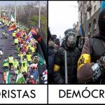 Terroristas - Demócratas. España - Ucrania