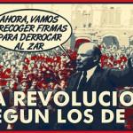 La Revolución según los de IU. Ahora, vamos a recoger firmas para derrocar al Zar.