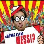 ¿Donde estás Messi?