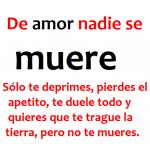 De amor nadie se muere, sólo...