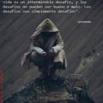 Sólo como guerrero puede uno soportar el camino del conocimiento. Un guerrero no puede quejarse o lamentarse pro nada. Su vida es un interminable desafío