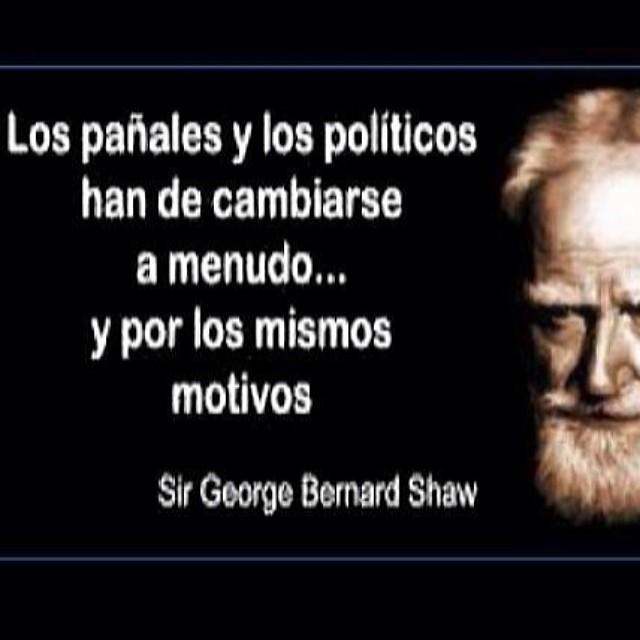 Los pañales y los políticos han de cambiarse a menudo y por los mismos motivos