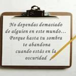 No dependas demasiado de alguien