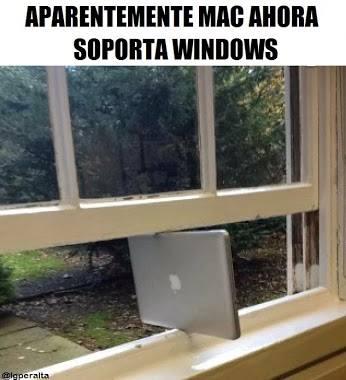 Aparentemente MAC ahora soporta windows