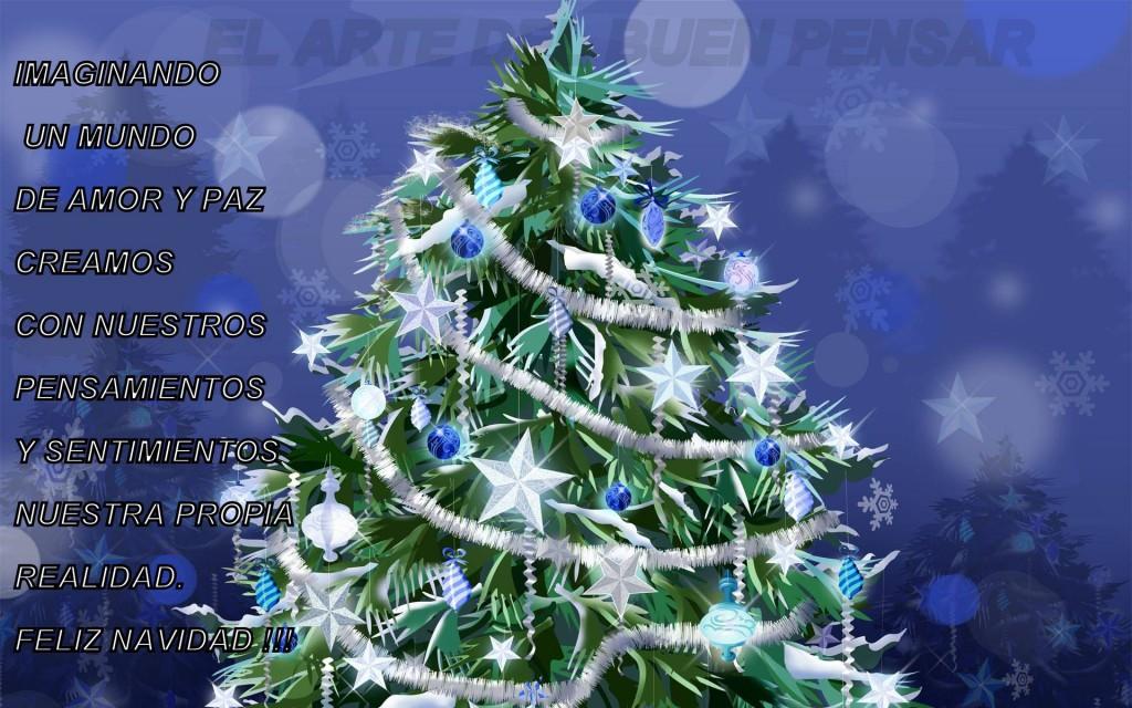 Imaginando un mundo de amor y paz creamos con nuestros pensamientos y sentimientos nuestra propia realidad. Feliz Navidad