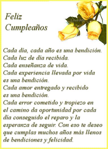 Feliz Cumpleaños. Cada día, cada año es una bendición. Que cumplas muchos años más de bendiciones y felicidad