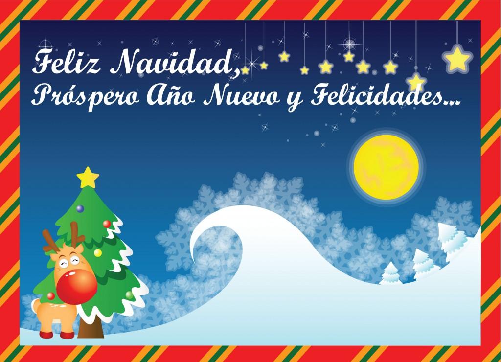 Felicidades en Navidad y Próspero Año Nuevo te deseo