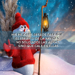 Mis mejores deseos para que el espíritu de la navidad no sólo roce las almas sino que cale en ellas
