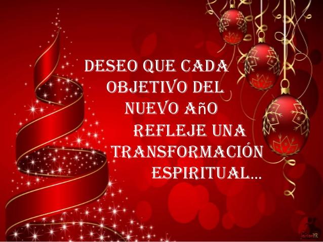 Deseo que cada objeto del nuevo año refleje una transformación espiritual