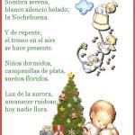 Sombra serena blanco silencio helado la Nochebuena. Y de repente el trineo en el aire se hace presente... Poesías en Navidad