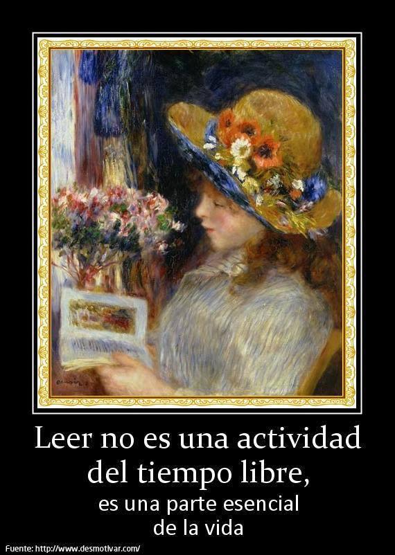 Leer no es una actividad del tiempo libre, es una parte esencial de la vida