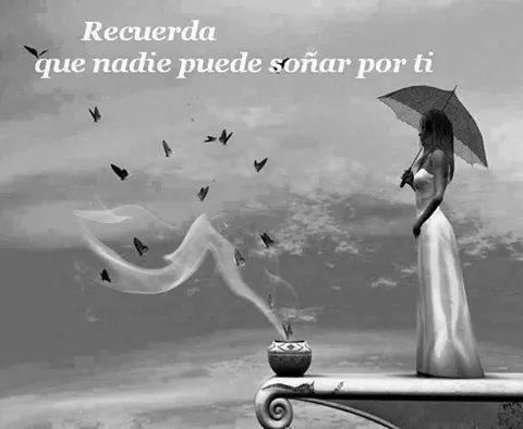 Recuerda que nadie puede soñar por ti
