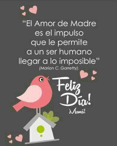 El Amor de Madre es el impulso que le permite a un ser humano llegar a lo imposible. Feliz día Mamá