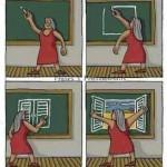 Cuando un maestro no solo enseña sino que educa, realmente está abriendo las ventanas de la inteligencia y la creatividad