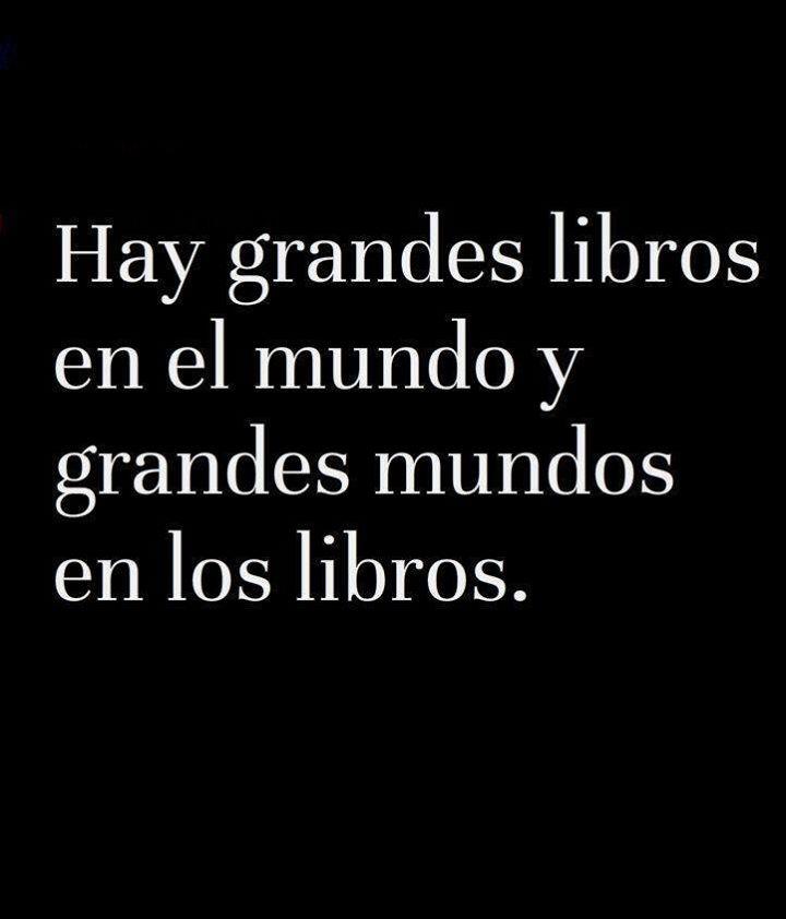 Hay grandes libros en el mundo y grandes mundos en los libros