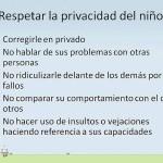 Respetar la privacidad del niño