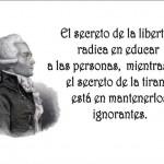 El secreto de la libertad radica en educar