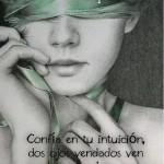 Confía en tu intuición, dos ojos vendado ven más claro que una mente ciega