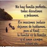 No hay familia perfecta todas discutimos y peleamos. En ocasiones incluso dejamos de hablarnos, pero al final, la familia es la familia y el amor siempre está ahí
