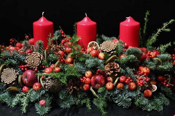 Como preparar un centro de mesa navide o paso a paso - Centro navideno de mesa ...
