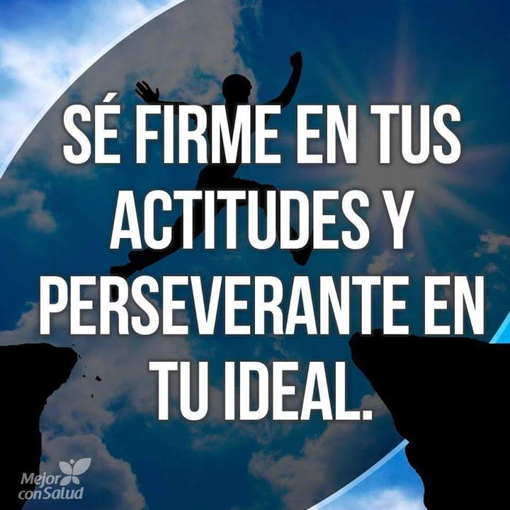Se firme en tus actitudes y perseverante en tu ideal