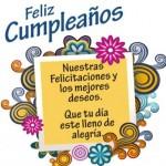 Nuestras felicitaciones y los mejores deseos. Que tu día esté lleno de alegría. Feliz Cumpleaños