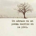 Un abrazo es como un poema