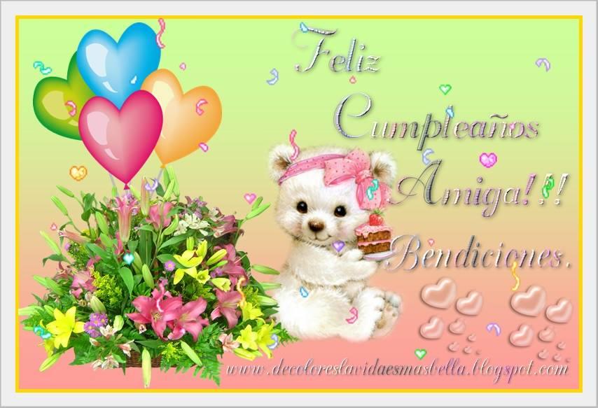Hoy es un día muy especial para TI, vívelo intensamente al lado de tus seres QUERIDOS, te deseo mucho AMOR y FELICIDAD en tu CUMPLEAÑOS.♥♥