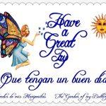 Have a great day ƸӜƷ Tengan un buen día.♥♥