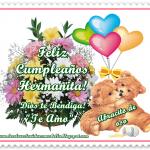 Feliz Cumpleaños Hermanita, Dios te Bendiga, Te Amo.