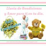 Feliz Cumpleaños lluvia de bendiciones y amor para ti