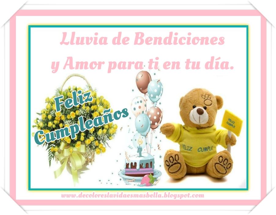 Feliz Cumpleaños lluvia de bendiciones y amor para ti en tu día