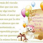 Feliz Cumpleaños Hermanita, Dios te Bendiga, Te Amo